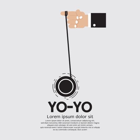 yoyo: Yo-yo In Hand Illustration