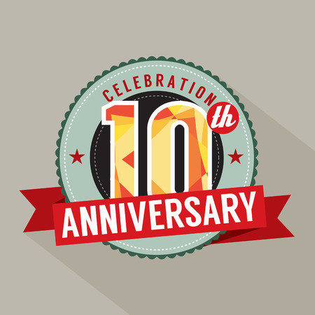 10th: 10th Years Anniversary Celebration Design