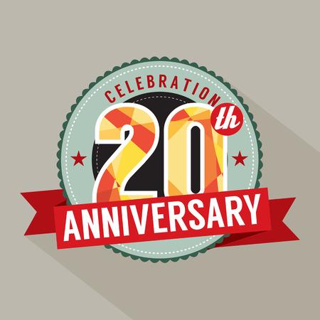 20th: 20th Years Anniversary Celebration Design