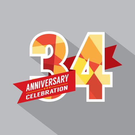 34: 34th Years Anniversary Celebration Design