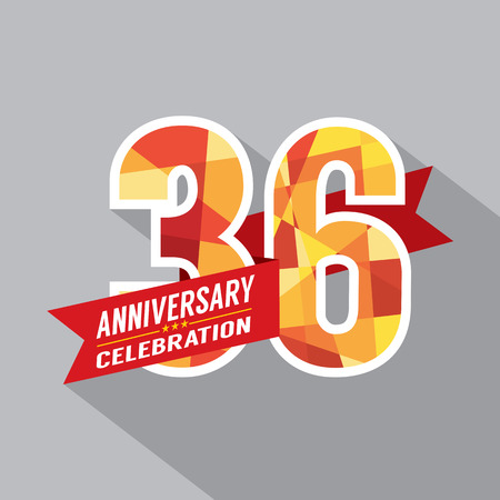 36: 36th Years Anniversary Celebration Design