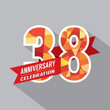 38th Years Anniversary Celebration Design