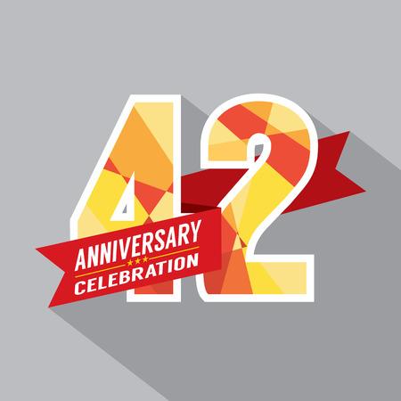 42nd: 42nd Years Anniversary Celebration Design