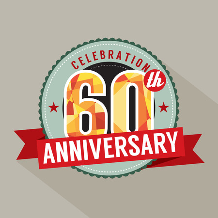 60th: 60th Years Anniversary Celebration Design