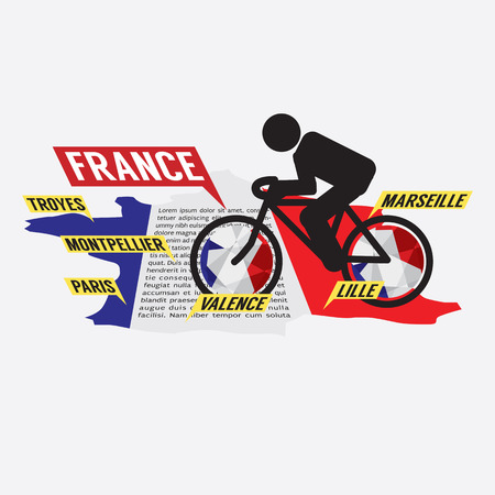 pedaling: Cycling In France Illustration