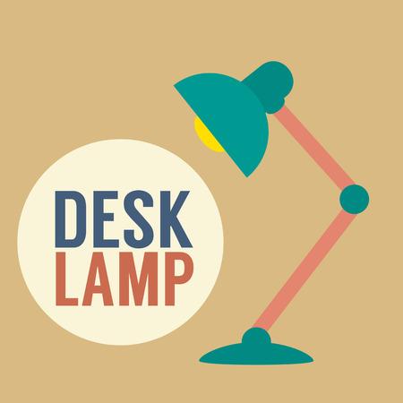 reading lamp: Modern Design Desk Lamp Illustration