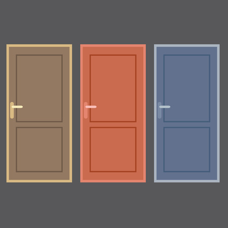 front gate: Flat Design Vintage Doors Collection