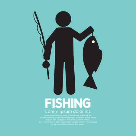Fishing Graphic Sign Illustration