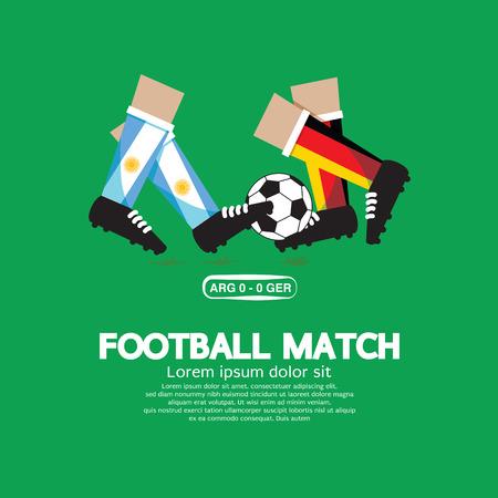 football match: Partita di calcio Illustrazione