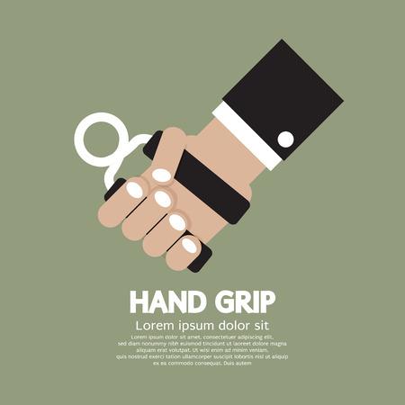 Hand Grip Graphic Illustration