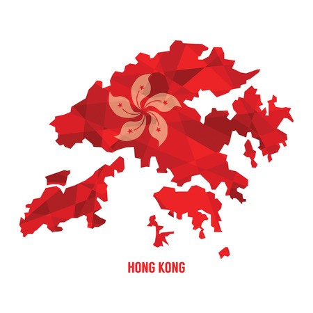 Map of Hong Kong Illustration  イラスト・ベクター素材