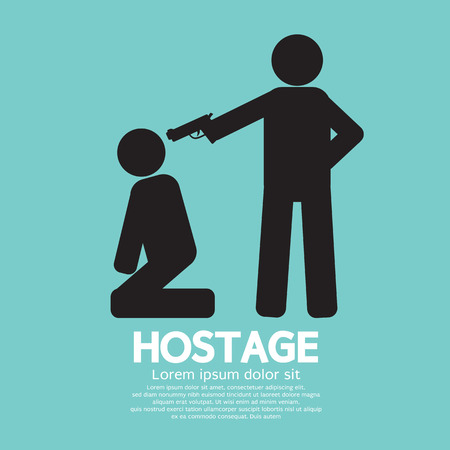 hostage: Hostage Graphic Sign Illustration Illustration