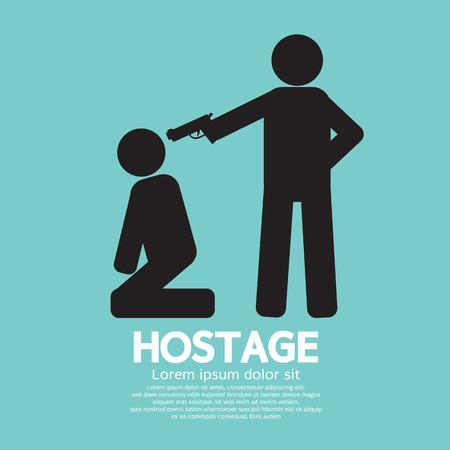 Hostage Graphic Sign Illustration