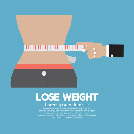 Lose Weight Concept Illustration Vector