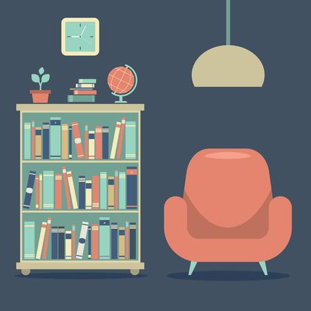 Modern Design Interior Sofa And Book Cabinet
