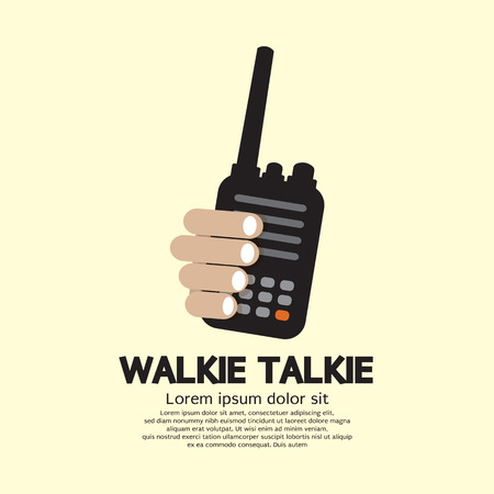 walkie: Walkie Talkie In Hand Illustration Illustration