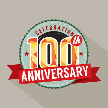 one year: 100th Years Anniversary Celebration Design