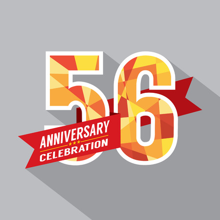 sixth birthday: 56th Years Anniversary Celebration Design
