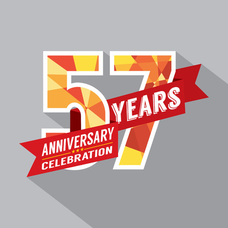 seventh: 57th Years Anniversary Celebration Design