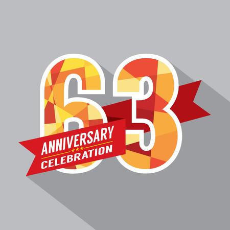 third birthday: 63rd Years Anniversary Celebration Design