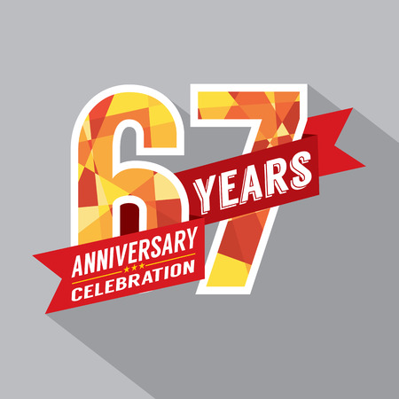 sixty: 67th Years Anniversary Celebration Design Illustration