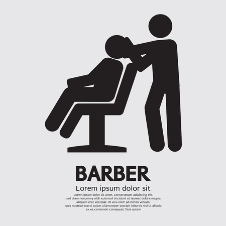 hair cutting: Barber Sign Graphic Vector Illustration