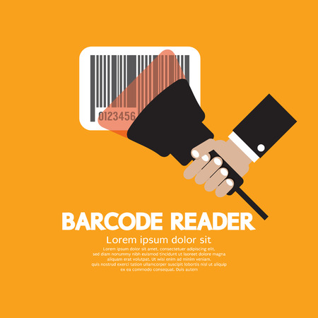 barcode scanner: Barcode Reader Graphic Vector Illustration Illustration