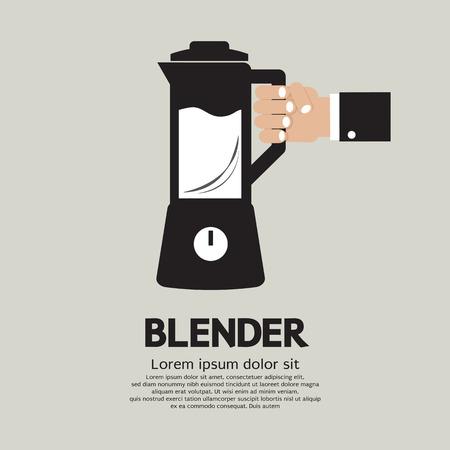 juicer: Blender Home Appliance Vector Illustration