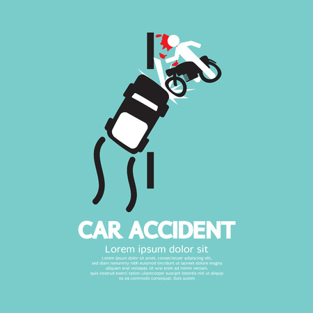 Car Accident Vector Illustration Vector