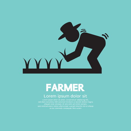 farmer: Sign Of Farmer Vector Illustration