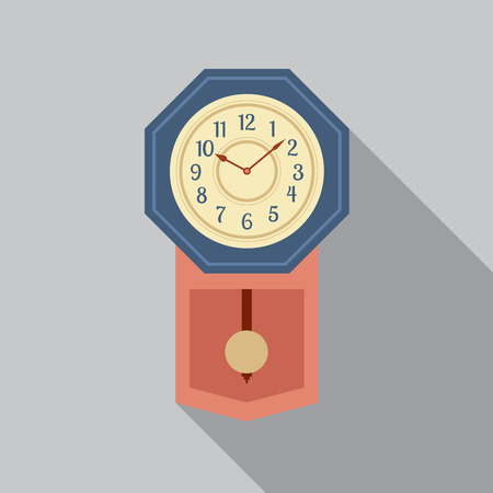 Grandfather Pendulum Clock Vector Illustration Vector