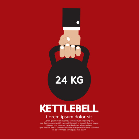 Kettlebell Fitness Exercising Sign Vector Illustration Vector