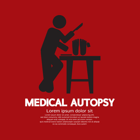 Medical Autopsy Graphic Vector Illustration Vector