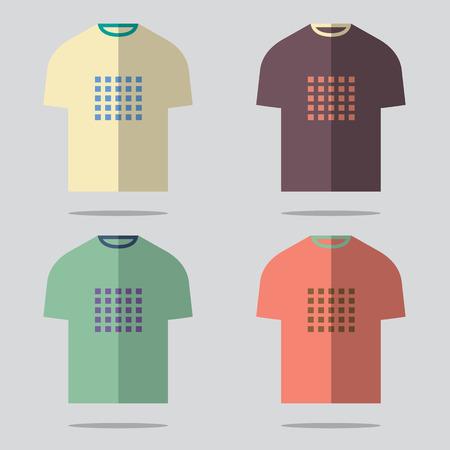 Flat Design T-Shirt Set Vector Illustration Vector