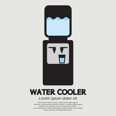 Water Cooler Graphic Vector Illustration 向量圖像