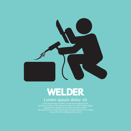 Welder Graphic Sign Vector Illustration Illustration