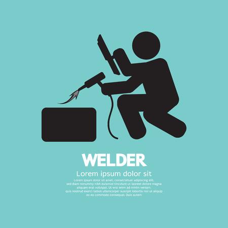 welder: Welder Graphic Sign Vector Illustration Illustration