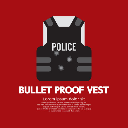 vest in isolated: Bullet Proof Vest Vector Illustration