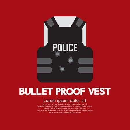 swat: Bullet Proof Vest Vector Illustration