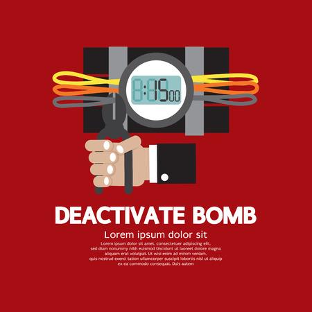 グラフィック ベクトル図は爆弾を非アクティブ化します。
