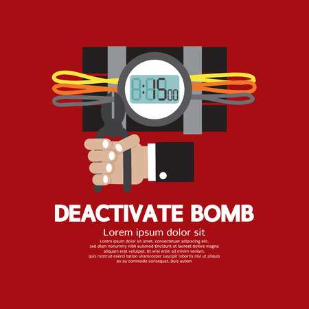 Deactivate Bomb Graphic Vector Illustration