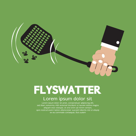 kill: Flyswatter In Hand Vector Illustration