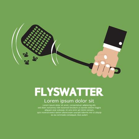 Vliegenmepper In Hand Vector Illustration