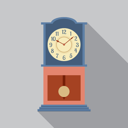 Grandfather Pendulum Clock Vector Illustration