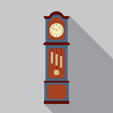 Grandfather Pendulum Clock Vector Illustration