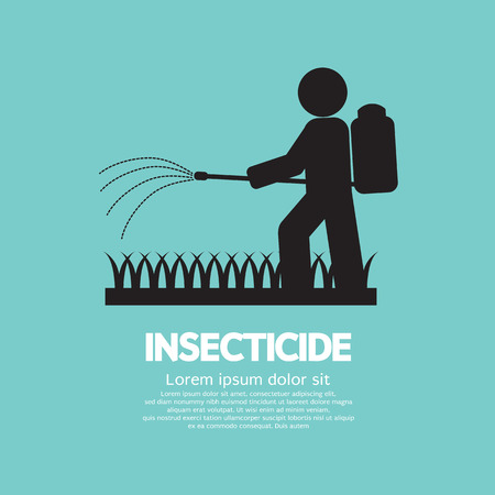 pesticides: Human Spraying Insecticide Vector Illustration Illustration