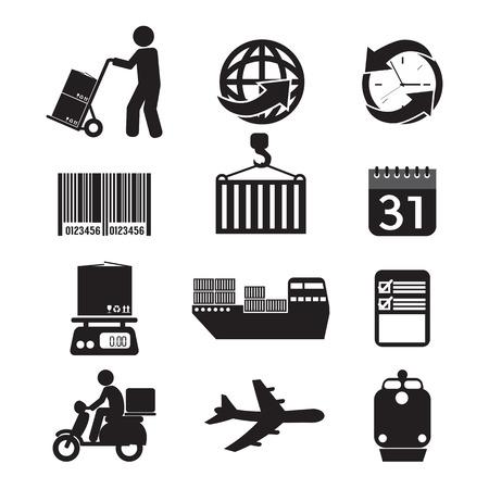 Logistics Icon Set Graphic Vector Illustration Vector
