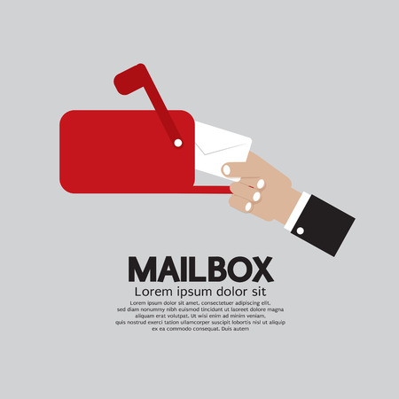 Mailbox Side View Vector Illustration