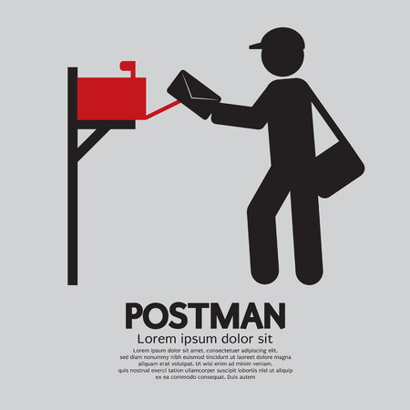mailman: Postman Graphic Symbol Vector Illustration