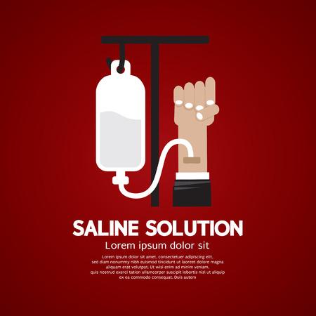 saline: Saline Solution Medical Concept Vector Illustration Illustration